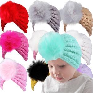 Wool Warm Hat New Pattern Child Kid Hairball Baby Headgear Ear Cap Autumn Winter Europe America Fashion High Quality 4 5dm M2