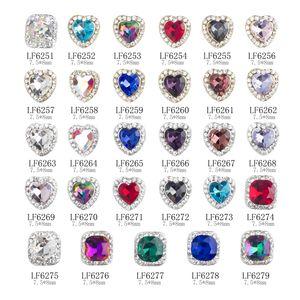 Nar013 30 styles diamant 3d diamant cœur strass strass bricolage bijoux ongles décorations décorations de la mode ongles gemmes accessoires
