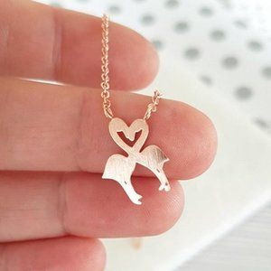 Rose Gold Flamingo Necklace Women Couple Jewelry Lovers Bird Pendant Stainless Steel Chain Valentine Days Gift Bijoux Femme 20201