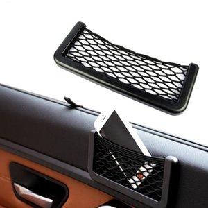 Araba Net Organizatör Cepler Koltuk Yan Arka Depolama Net Çanta Telefon Tutucu 15/20 cm Otomotiv Net Depolama Sepetleri Yapıştırıcı YHM454
