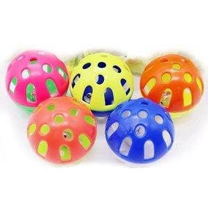 Brinquedos de cachorro fofo brinquedos coloridos bola oca com sino pequeno atacado animal de estimação pu jlliiw mx_home