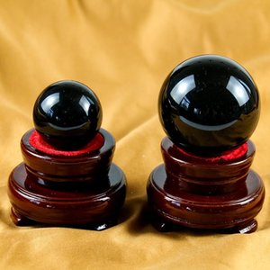 40 60mm Crystal Ball Photography Black Obsidian Sphere Crystal Ball Healing Stone Crafts Home Decor Accessories Hope Crystals H jllATb