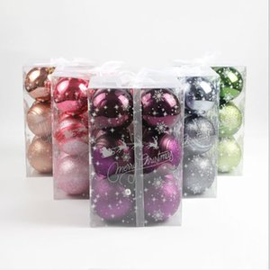 6cm Transparent plastic ball Christmas tree Ring hollow ball Food candy box Environmental protection wedding decoration gift DHE3403