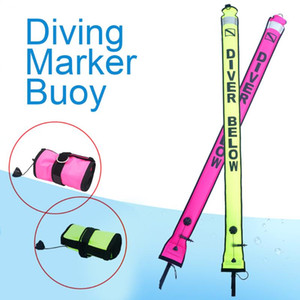 New Visible Scuba Diving Surface Signal Marker Buoy 1.2M 1.5M 1.8M Inflatable Signal Tube Marker Diving Scuba Accessory