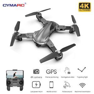 Cymarc G15 GPS DRONE 4K HD-Kamera-Berufshöhe Hold RC Drohne Quadcopter Folgen Sie mir Flug 15 Minuten Dron vs SG907 LJ200911
