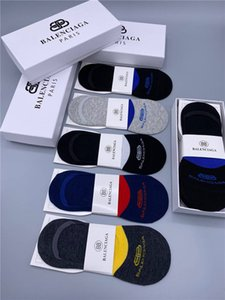 Moda al por mayor Balanciaga Brand Designer Socks Men's Basketball Sports Calcetines de lujo 5 pares / Mujeres Bulk Diseñadores Ropa 2020