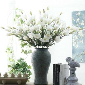 Simulación 7 cabezas platycodon grandiflorum artificial flores artificiales chino bellflower decoración del hogar boda