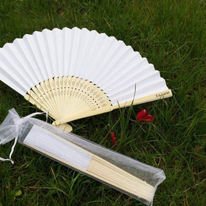 50pcs White Drawstring Organza Folding Hand Fan Pouch Party Wedding Favor Gift Bags