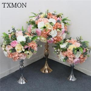 Custom made wedding decoration simulation flower ball silk fake flowers home wedding table main center artificial flower ball