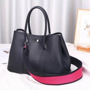 Designer-100% genuine leather women Tote bag garden party handbag Casual Cowhide Lady shoulder bag classic