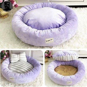 Bonito arco cão canis morno inverno pelúcia pelúcia cão ninho quatro estações pet ninho gatinho gato cama cama