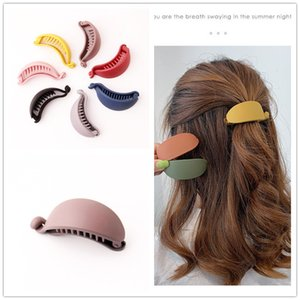 Hot Ins Solid Hairpins Rubber Color Banana Hair Clip For Women Korean Brand Twisting Clips Ponytail Holders Headwear Accessories Q1202