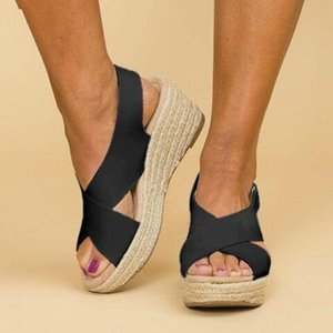 Women's Espadrille Wedges Sandals Comfortable Slippers Ladies Womens Casual Shoes Breathable Flax Canvas Pumps