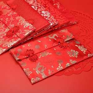 2021 Chinese New Year Silk Red Envelopes HongBao Money Wrap Bags Red Lucky Money Pockets for Festival