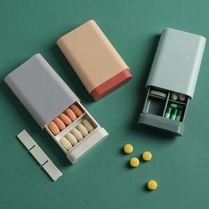 Portable Travel Storage Box for Vitamin Capsule Small Medical Kits Sealed Box Mini Compartment Storage Box