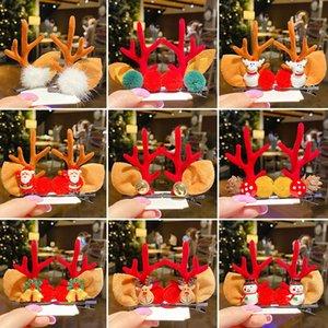 New Christmas children Antler girl hair clip baby cute hair Elk clip wacky personality hair clip
