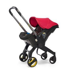 Cochecito de asiento de coche multifuncional Casilla de carro de bebé Canasta de viaje portátil Buggy con asiento de seguridad para 0-3 años 4 IN1