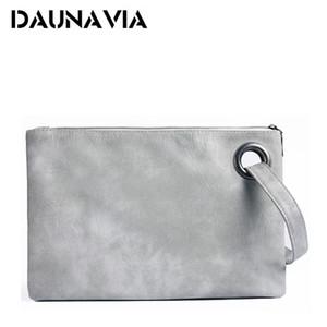 DAUNAVIA fashion women's PU leather women envelope messenger bags clutch evening bag for female Clutches Handbags Q1117