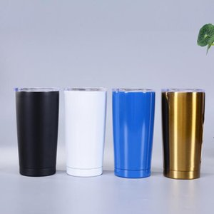 New Arrival Customized 20oz Sublimation Tumbler mugs Stainless Steel Thermos Bottle Car Cups with lid fast shipping