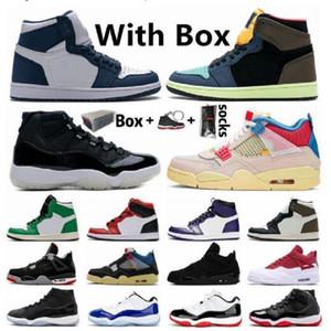 Обувь Баскетбольные Мужчины Bio Hack 1 1S Union 4 4S Concord Conded 11 11S Jumpman Mocha Guava Ice Space Jam Sports Shoe