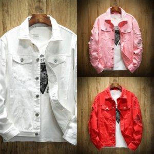 VZcO Men Stylish Loose Denim Jacket Cowboy Slim Fit coat slim Outwear Denim Coat Clothing Jeans Hot Bomber jacket denim fit Jacket Men's Jea