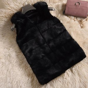 Fur Vest female 2020 Autumn and Winter new simulation fur horse clip short plush vest Korean style waistcoat
