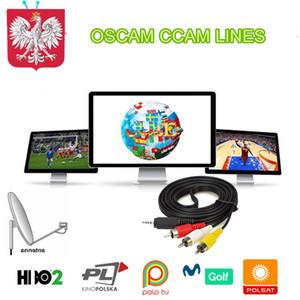 OSCAMS 1 YIL İSPANYA İÇİN CCAM HATLARI İtalya Portekiz Polonya Oscam CLINE DVB-S2 Uydu Alıcısı 1 Yıl CCCAM Europa Lines Sunucu