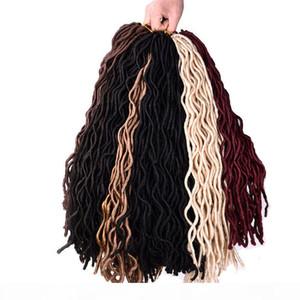 Mtmei hair 10packs Crochet Braid hair 18 inch 100g pcs,24 strands pcs Faux Locs curly Synthetic Braiding Hair extensions