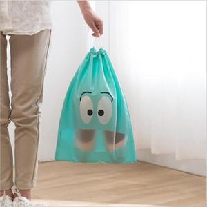 Vieruodis Sapatos de viagem Saco de Armazenamento Não-tecido impermeável Portátil Multi-Propósito Exurso Roupa Roupa Underwear Bundle Bolso Sapato Saco