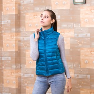 [Aiweier] Mujeres Jackets ligeros Chaleco Otoño Chaqueta de invierno Zipper Slim Down Abrigos para Mujer Parkas Ropa de vestir