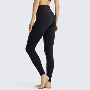 Mujeres Deportes Entrenamiento Yoga Pantalones Pantalones Leggings Correr Fitness High Laastic Cintura Sólido Skinny Stretch Capris Gym Leggin Transpirable