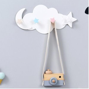 Wall Mounted Key Holder Hanger Cute Cloud Star Moon Shape Hooks Bathroom Moisture Proof Hooks Plastic Household Storage Tool
