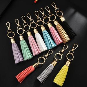 Korean Velvet Tassel Charm Keychains Women Handbag Wallet Accessories Car Circle Key Rings Gift Key Rings Free Ship