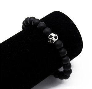 Nature Soccer football Jewelry Charm Bracelet Bracelet Men Beads Sport Stone sqcVo hat7890