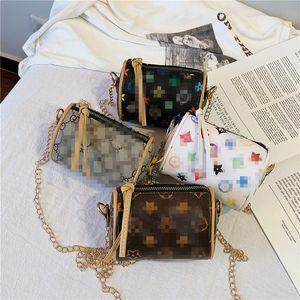 Niños lindos bolsos coreanos chicas coreanas mini princesa monederos patrón clásico impreso PU cadena bolsas de mano Moda bebé bolsa de caramelo encantador regalo