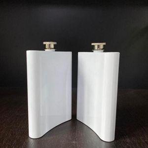 Boş Süblimasyon Şişesi Kalça Şişesi Paslanmaz Çelik Su Şişesi Çift Duvar DIY Lover Açık Tumblers Drinkware 8 oz Deniz Nakliye YYS2760