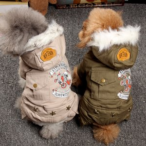 Winter Dog Motorcycle rider Thicken Outfits Warm Clothes for Small Coat Jacket Puppy Sweater Dogs Pets New Y1124