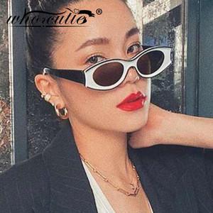 Модные солнцезащитные очки мода модный модный вогнутый бренд Cutie Who Hop белый дизайн овальный кадр бедра мужчины солнцезащитные очки женщин оттенки S379 QDDAO