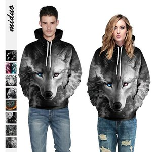 Animal pattern Street Jacket long sleeve Hooded Coat sweatshirts men's and women's party couple's Pullover baseball suit