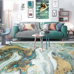 Nordic Modern Blue Verde Astratto Acqua Acqua Acqua di mare Golden Soggiorno Camera da letto comodino