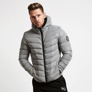 New Winter Warm Cotton Coats Muscle Fitness Brothers Hoodied Zipper Jacket Mens Casual Loose Padded Jacket