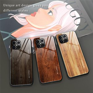 New Luxury Liquid Silicone Wood Grain Phone Case For iPhone 12 MINi 11 Pro Max X XR XS 6 6S 7 8 Plus SE 2 2020 Capa Glass Case