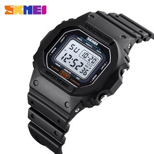 SKMEI Fashion Colorful LED Sports Digital Watch Waterproof Shockproof PU Strap Stopwatch Alarm Femal Watches reloj hombre 1608 201218
