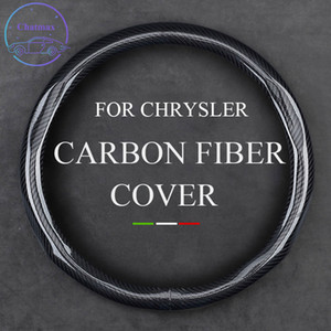 Carbon Fiber Steering Wheel Cover for CHRYSLER Grand Voager Phev 300C PT Universal 37-38cm 15 Inche Leather Trim Strip Interior Accessories
