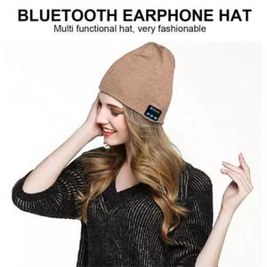 Bluetooth Beanie Creative Inalámbrico Inalámbrico Inalámbrico Smart Pap Tap Auriculares Micrófono Microsofree Music Punto Hat Hat Beorías de invierno GWA3368