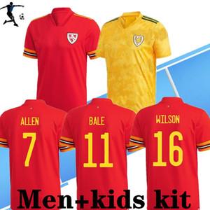 S-4XL 2020 Gales Soccer Jersey Euro Copa 2020 Gales Inicio Alojamiento Hombres niños Camisa de fútbol Bale James Maillot de Foot Ramsey Camisetas