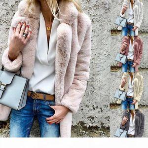 Women Winter Designer Coats Pink White Faux Fur Warm Parka Woman Fashion Discount Clothing Free Shipping