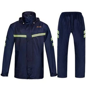 Outdoor Rain Jacket Pants Motorcycle Impermeable Camping Mens Waterproof Rain Suit Hat Gabardina Hombre Raincoat Adult R5C168 J1211