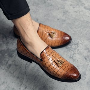 Leather Man Loafers slip on Spring Men's Shoes tassel Casual loafers outdoot comfortable Breathable Driving Mens Shoes moccasins