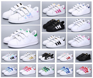 Classic Youth Stan Smith Superstar Kids Girls Child Boys Baby Bambini Scarpe Casual Sport Dimensione 24-35